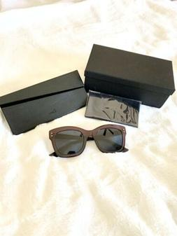 Christian Diorizon2 0T7KU Sunglasses Plum Frame Blue Lenses