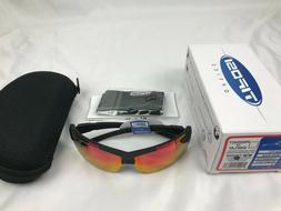 Tifosi JET FC Gloss Black Smoke RED Sunglasses