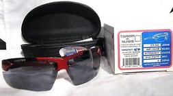 Tifosi JET FC - METALLIC RED - SMOKE Single Lens - Sunglasse
