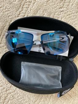 Tifosi Jet Sunglasses, Golf Run Eyewear, Blue Lenses, Metall