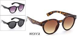 Keyhole Sunglasses Eyewear Round Vintage Retro Horned Rim Cl