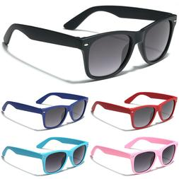 KIDS Retro Rewind Sunglasses Boys Girls Rubberized Soft Fram