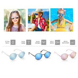 Kids Children Sunglasses Mirrored Sport Goggles Shades UV400