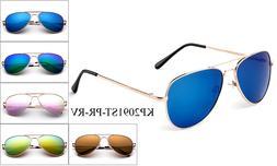 Kids Polarized Aviator Sunglasses Flash Mirror Lens Teens Ju