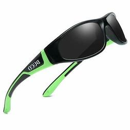 Duco Kids Sports Style Polarized Sunglasses Flexible Frame F