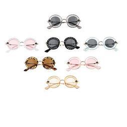Kids Summer Sunglasses UV400 Protection Metal Frame for Baby