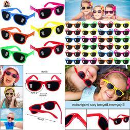 Kids Sunglasses Party Favors 24Pack Neon For Boys & Girls Gr