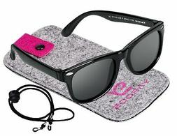 Kids Toddler Baby Flexible Retro Polarized Sunglasses with S