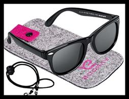 Kids Toddler Baby Flexible Retro Polarized Sunglasses W Stra