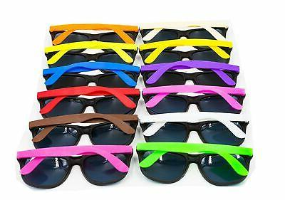 12pcs neon 80 s style party sunglasses
