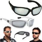 2 PACK Chopper Black / White Wind Resistant Sunglasses Motor