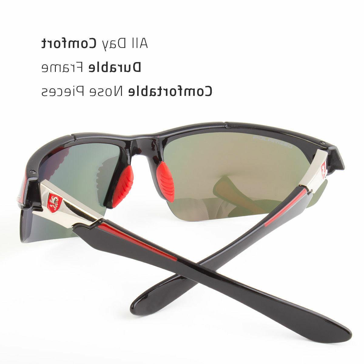 2 Men Sunglasses Wrap Mirror Driving Eyewear