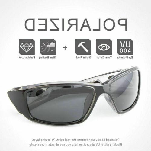 2 Pair POLARIZED Mens Anti Fishing Driving Sport Sunglasses