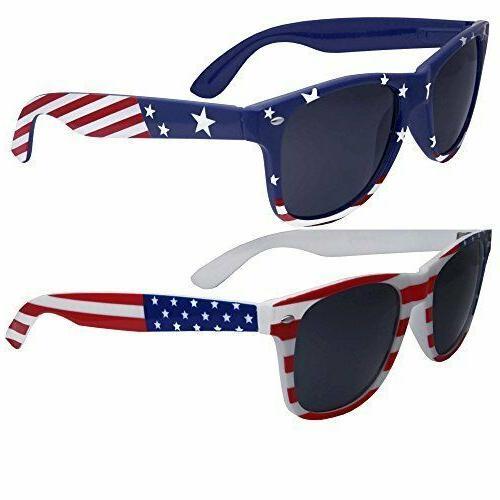 2 pairs bulk american sunglasses usa flag