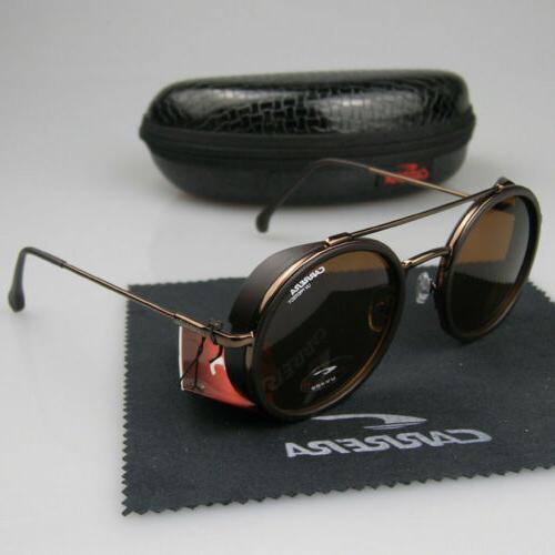 New Men Women Retro Sunglasses Round Windproof Matte Frame M