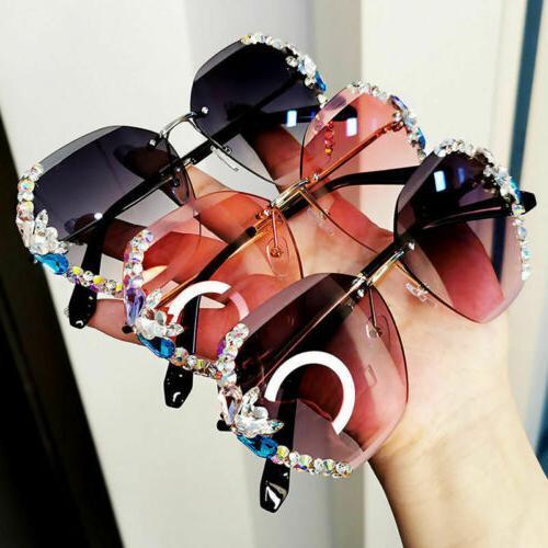 2021 Luxury Rhinestone Square Sunglasses Women Fashion Outdo