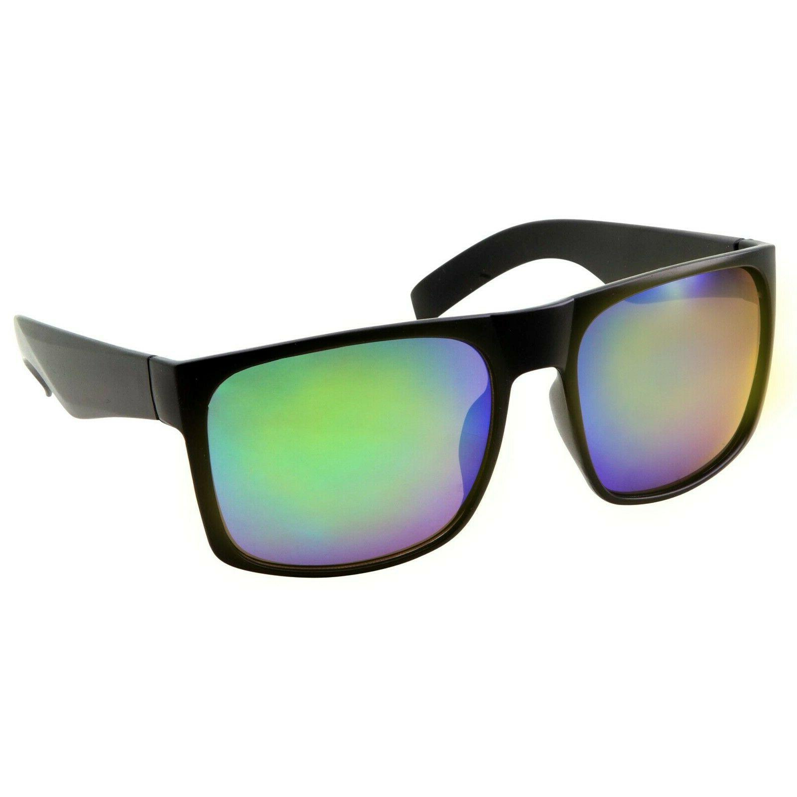 3 XL SUNGLASSES WIDE Color Mirror Glasses Extra Large