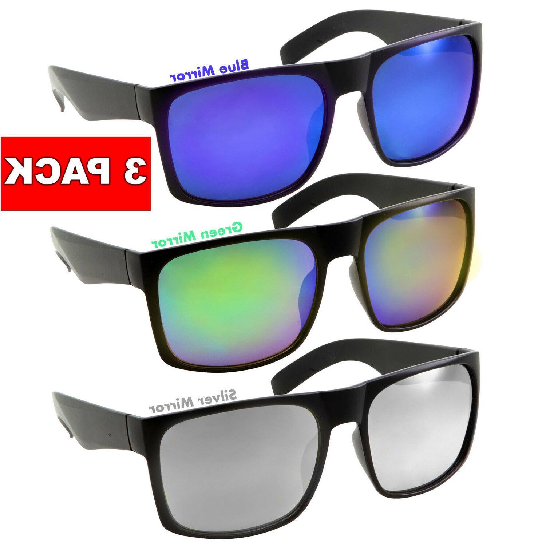 3 pack xl men s sunglasses wide