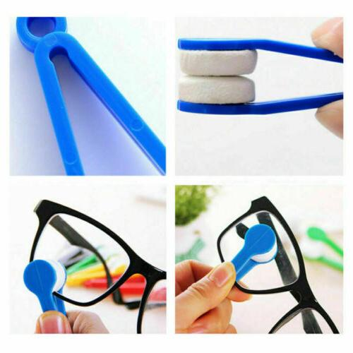 5pcs Sunglasses Brush Cleaner Cloth Wipes