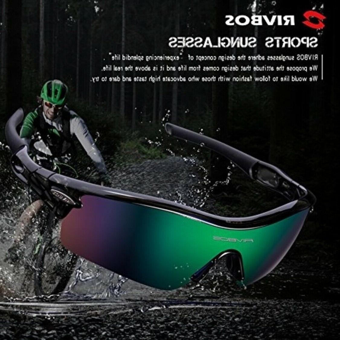 RIVBOS 805 POLARIZED Sunglasses with Interchangeable Lenses