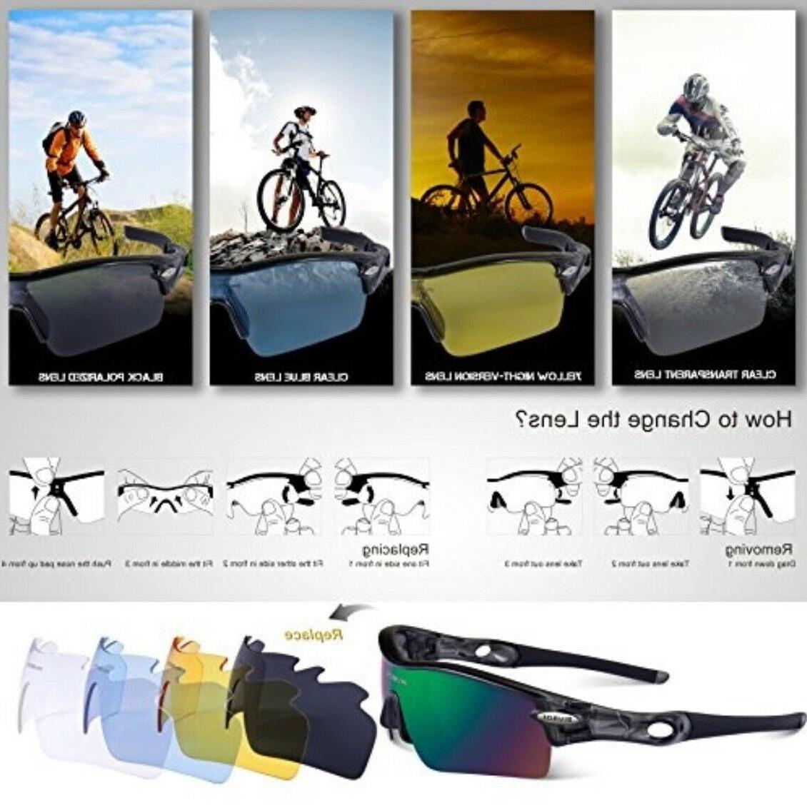 RIVBOS POLARIZED Sunglasses 5 Interchangeable