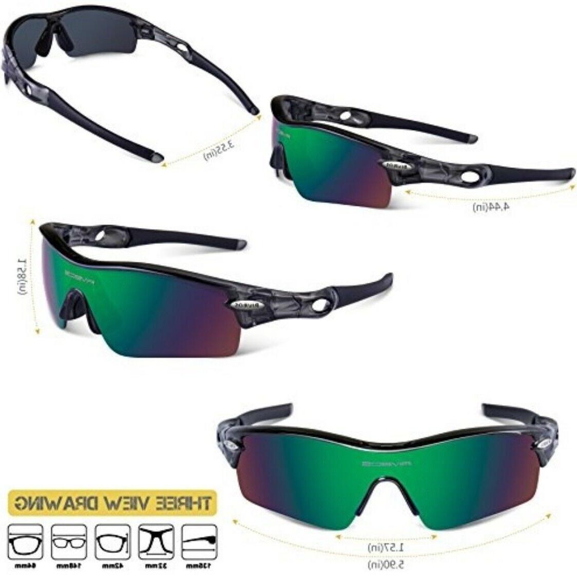RIVBOS POLARIZED Sunglasses Interchangeable