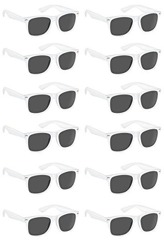 TheGag White Wayfarer Sunglasses Party Pack-12 Pure White Pr