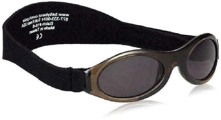 Baby Banz Infant Adventure Sunglasses, Ages 0-2+, Black, 1 p