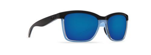anaa blue mirror 580p square sunglasses ana