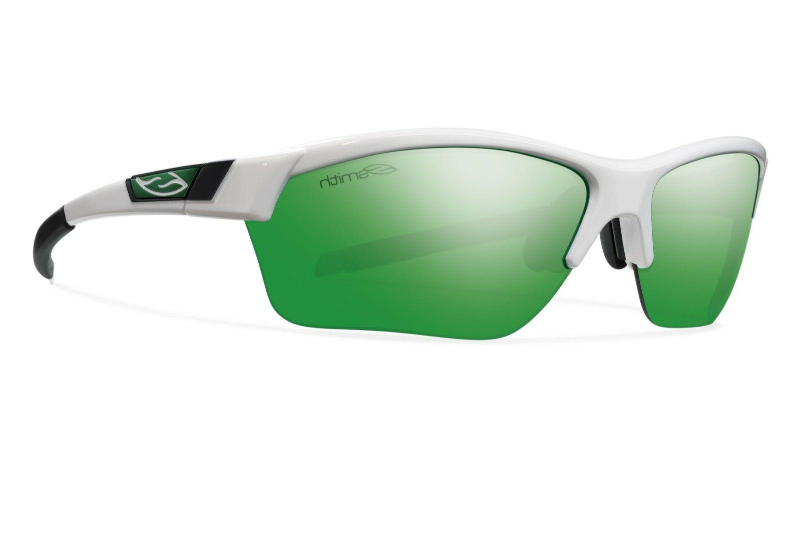 approach max sunglasses white frame green sol