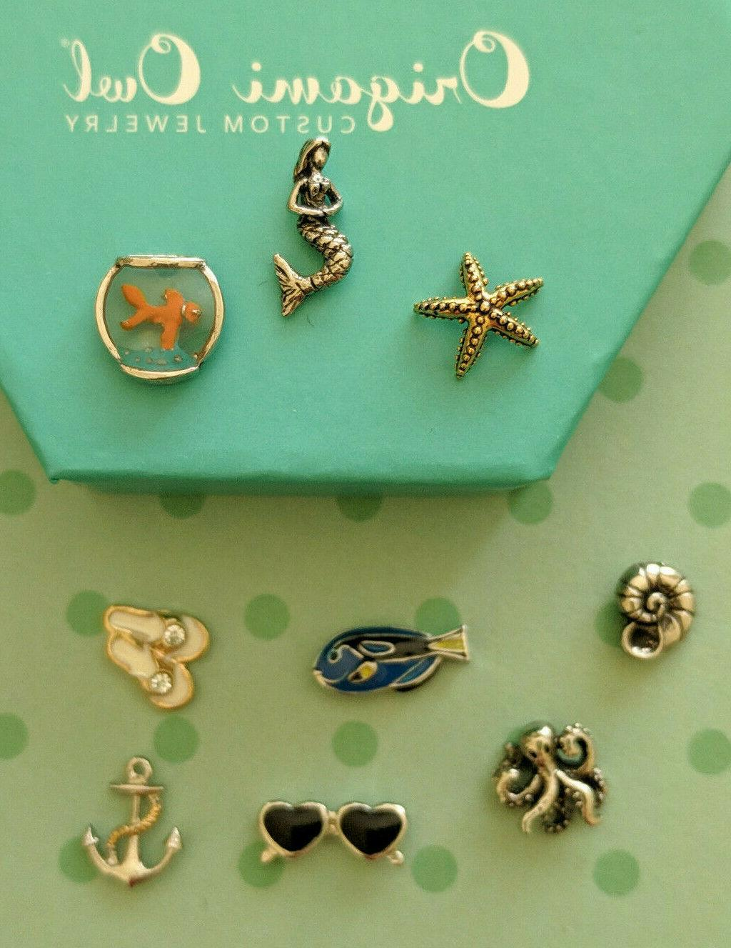 authentic beach and sea life charms
