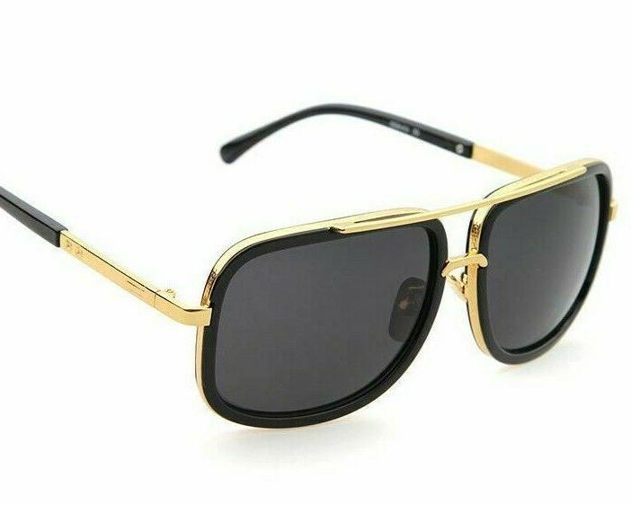 Men Fashion Sunglasses Square Designer Flat Gold