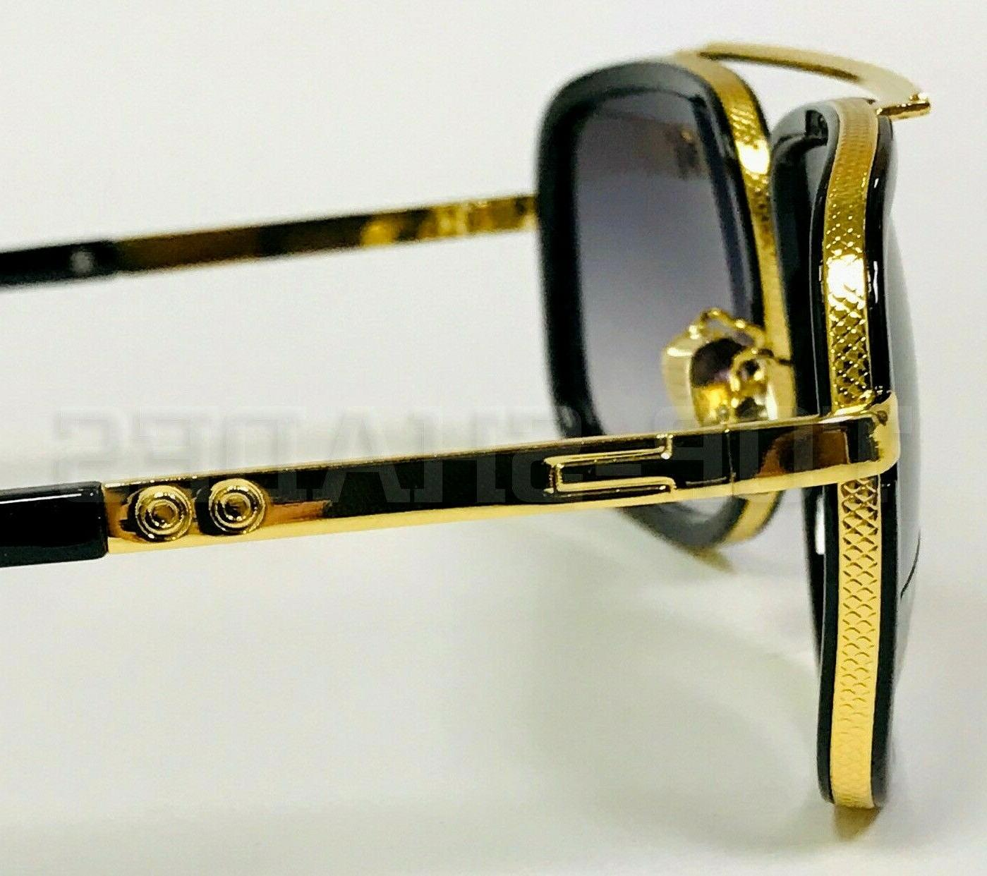 Aviator Flat Top Gold Men Sunglasses