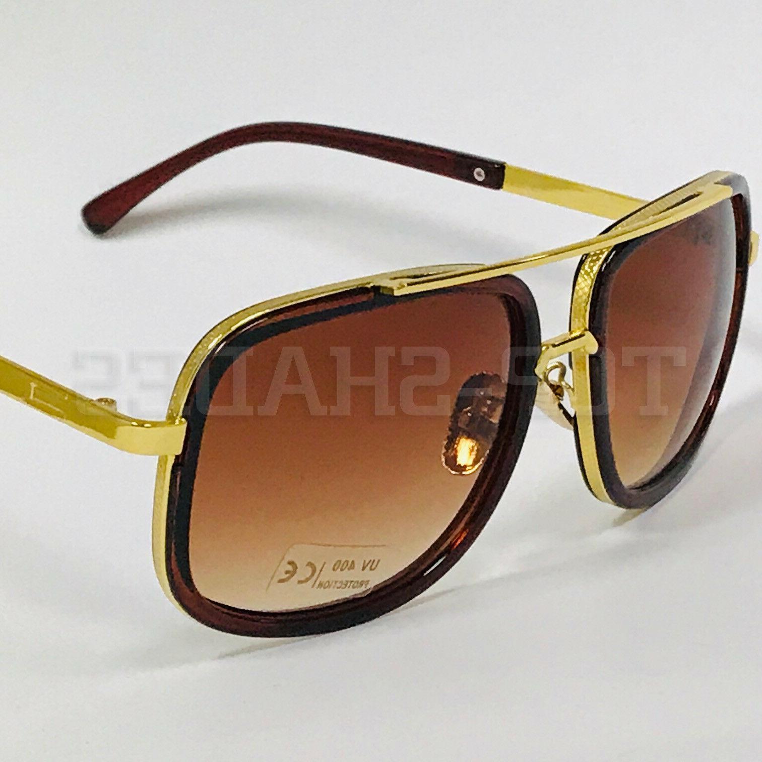 Aviator Oversize Flat Men Sunglasses