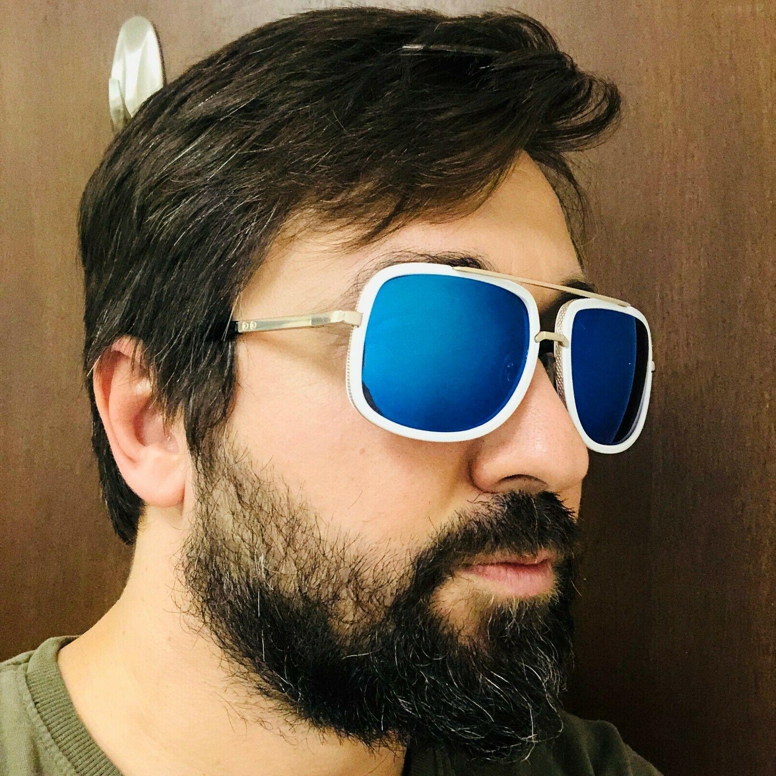Aviator Oversize Designer Men Bar Sunglasses