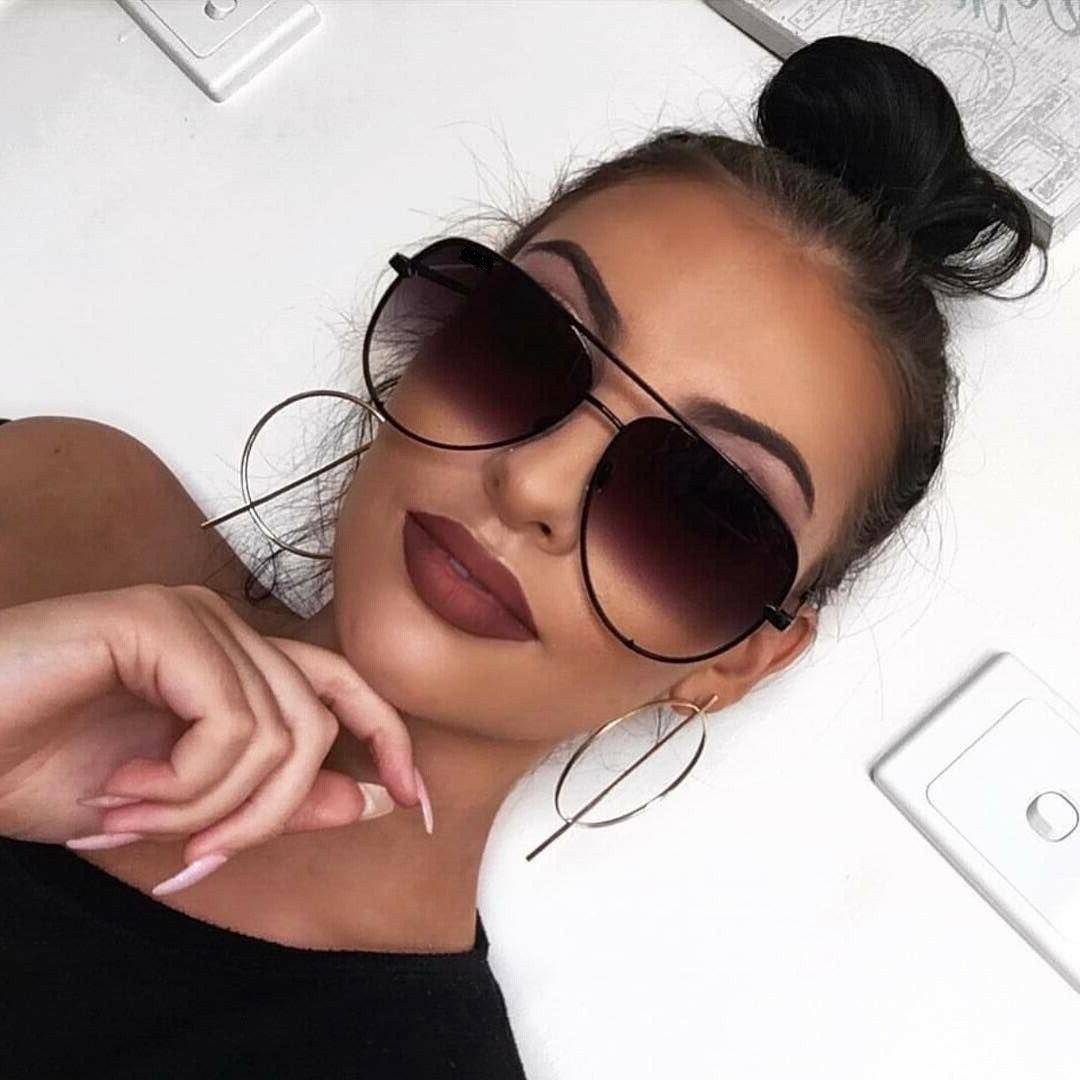 aviator oversized women sunglasses aviator flat top