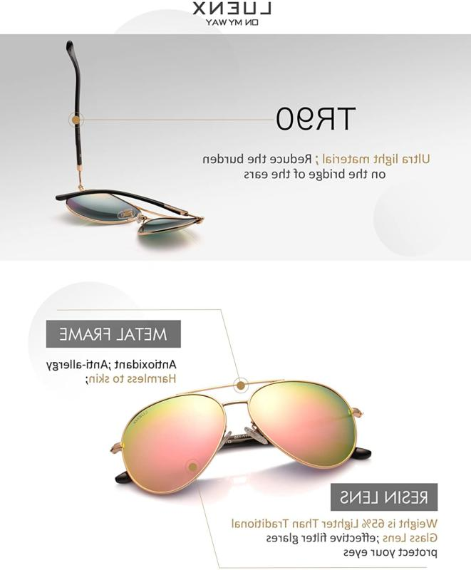 LUENX Sunglasses for Women Protection