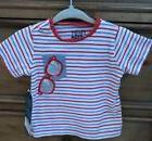 Hatley Baby Boys 3-6 Months T-shirt Stripes Sunglasses NEW
