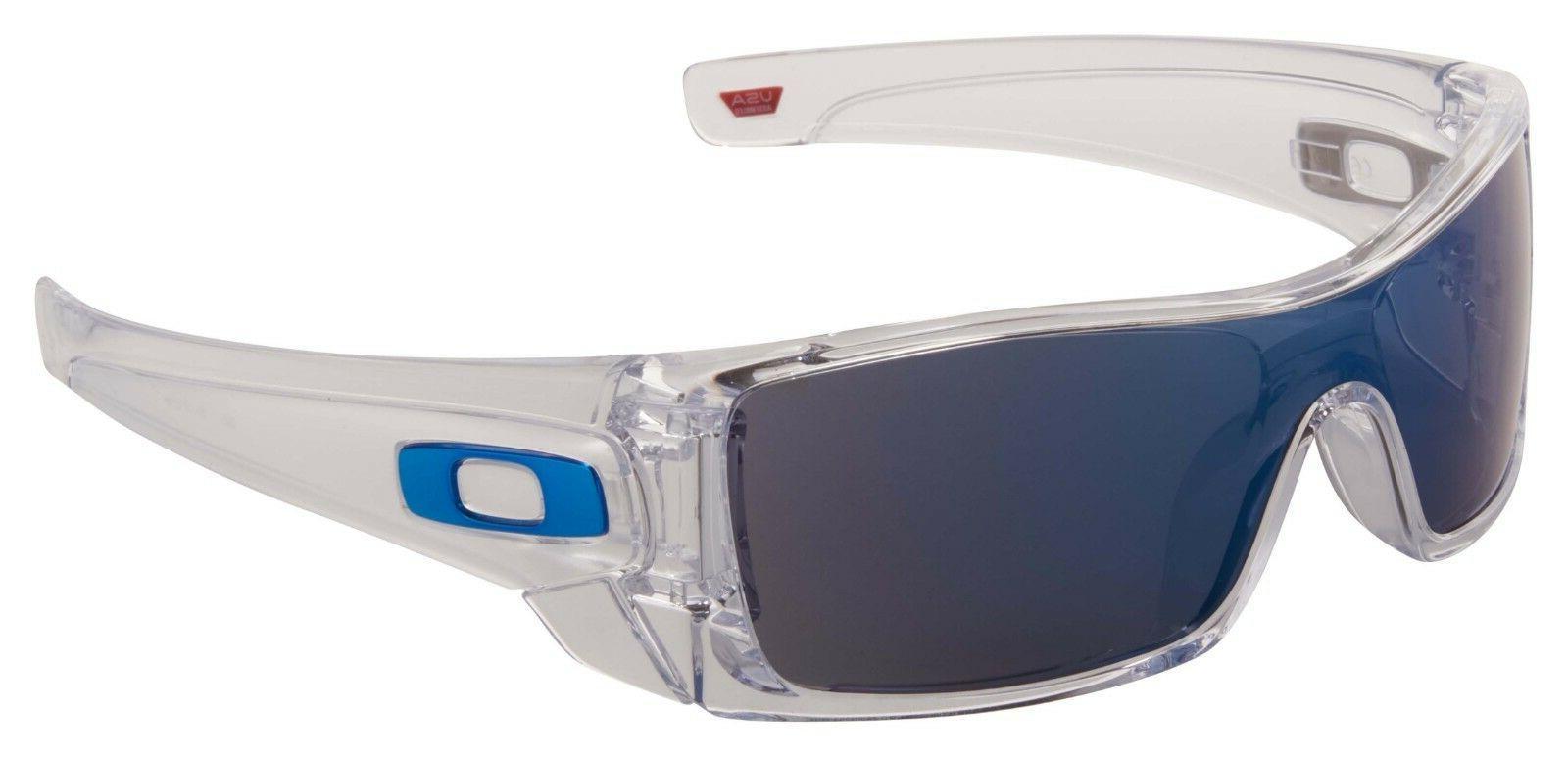 batwolf sunglasses oo9101 07 polished clear ice