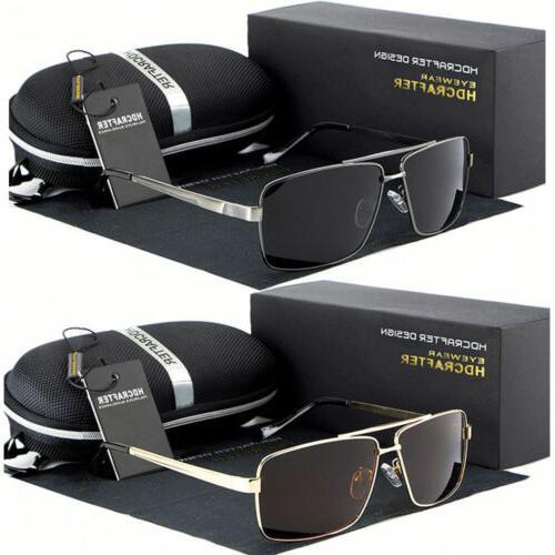 black polarized aviator men glasses outdoor sports