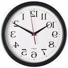 Large Black Wall Clock Silent Non Ticking Quartz Operated Ro