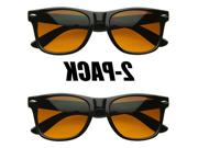 Blue Blocking Driving Wayfarers Sunglasses Amber Tinted Lens
