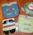 boys infant toddler ~ bibs & sunglasses ~ 6 - 12  - 24 month