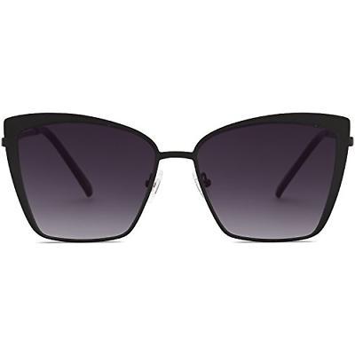 SOJOS Cateye Sunglasses for Women Fashion Mirrored Lens Meta