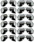 Classic Aviator Mirrored Lens Eyeglasses Black, Silver Frame