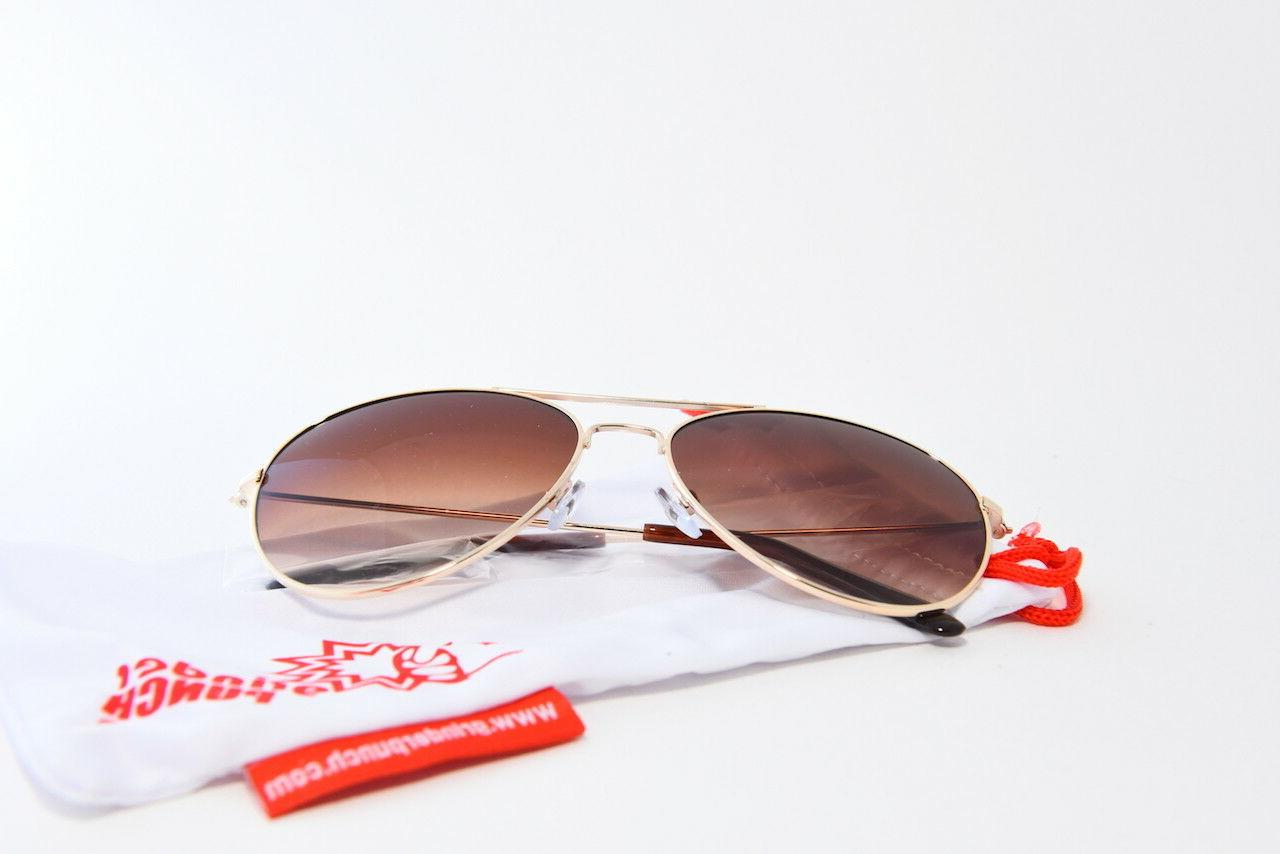 GRINDERPUNCH SUNGLASSES NORMAL BROWN LENS OS