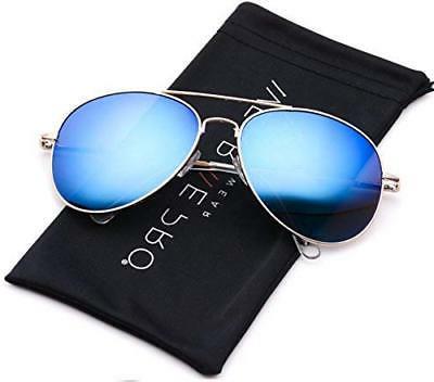 classic mirror lenses aviator sunglasses w flex