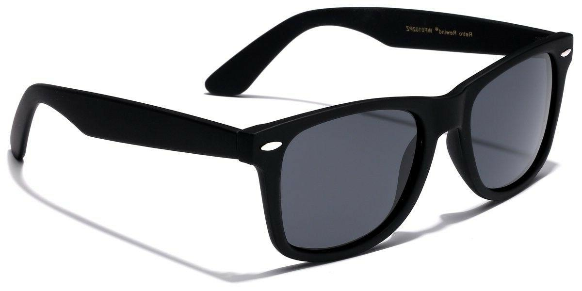 Retro Rewind Classic Polarized Sunglasses Black  | Smoke Pol