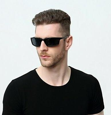SUNGAIT Polarized Sunglasses Rectangle Men Frame