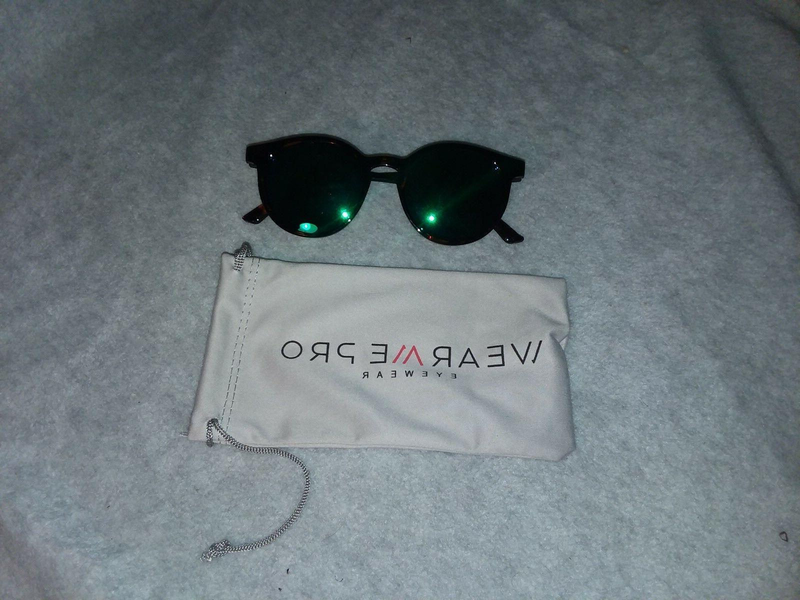 WearMe Classic Round Sunglasses Frame Mirror Green Fashion